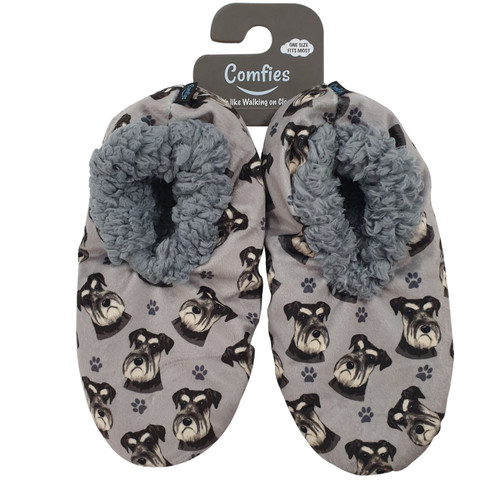 Comfies Pet Lover Slippers by E&S Imports - Schnauzer (251-105)