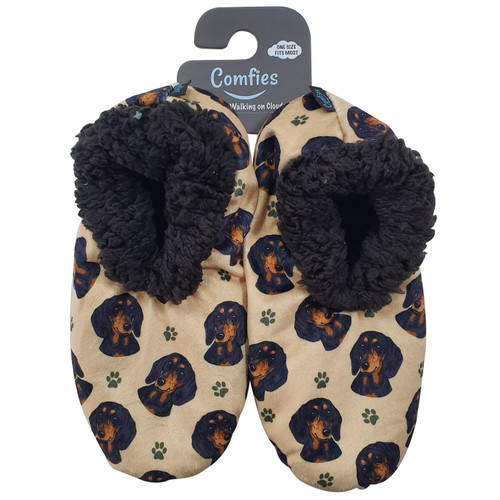 Comfies Pet Lover Slippers by E&S Imports - Dachshund Black (281-14)