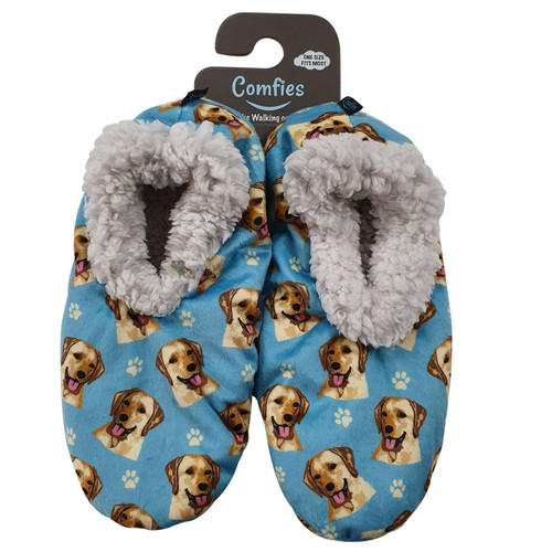 Comfies Pet Lover Slippers by E&S Imports - Yellow Labrador Retriever (281-20)