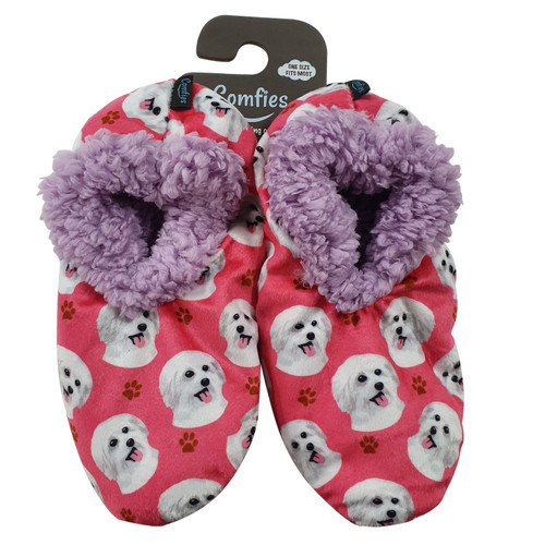 Comfies Pet Lover Slippers by E&S Imports - Maltese (281-24)