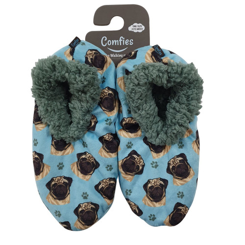 omfies Pet Lover Slippers by E&S Imports - Pug (281-31)