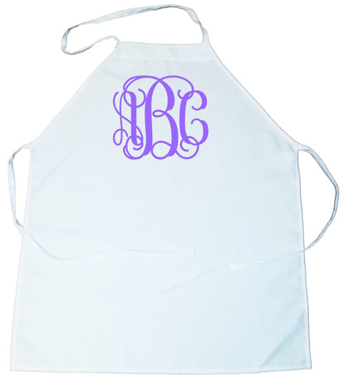 Vine Monogram Personalized Bib Style Kitchen Apron (100-0080-000)