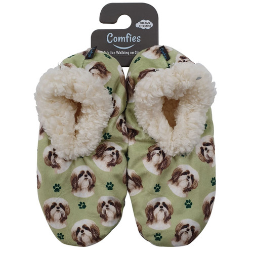 Comfies Pet Lover Slippers by E&S Imports - Shih Tzu Tan (281-87)
