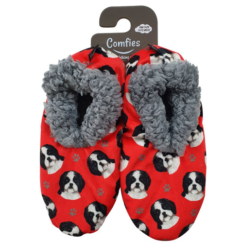 Comfies Pet Lover Slippers by E&S Imports - Shih Tzu Black (281-87b)