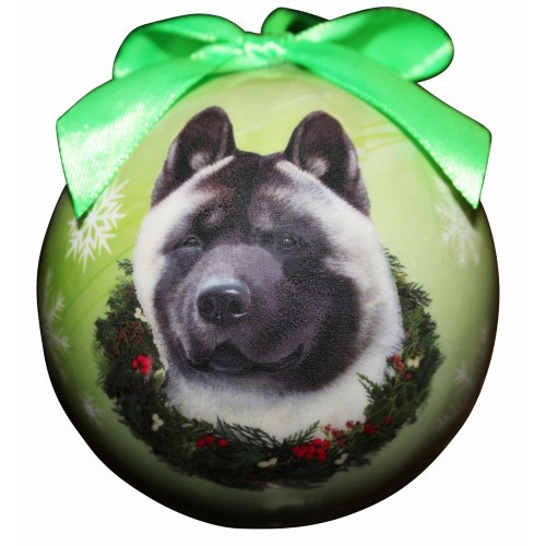 E&S Imports Shatter Proof Ball Christmas Ornament - Akita(CBO-1)