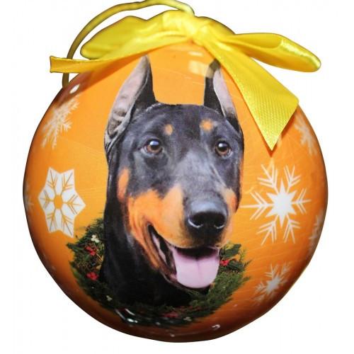 E&S Imports Shatter Proof Ball Christmas Ornament - Doberman(CBO-101)