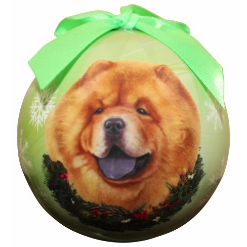 E&S Imports Shatter Proof Ball Christmas Ornament - Chow(CBO-12)