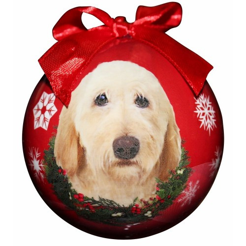 E&S Imports Shatter Proof Ball Christmas Ornament - Labradoodle (Yellow)(CBO-121)