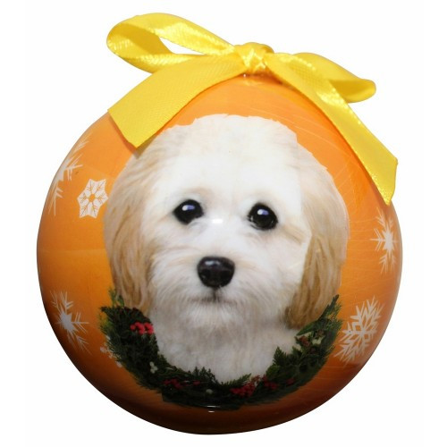 E&S Imports Shatter Proof Ball Christmas Ornament - Cockapoo(CBO-123)