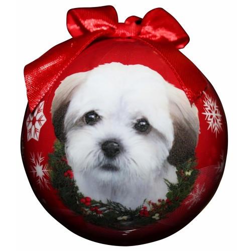 E&S Imports Shatter Proof Ball Christmas Ornament - Shihpoo(CBO-126)
