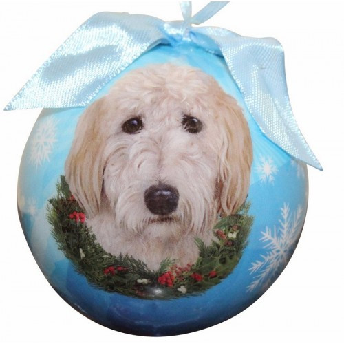 E&S Imports Shatter Proof Ball Christmas Ornament - Goldendoodle(CBO-134)