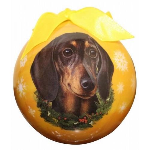 E&S Imports Shatter Proof Ball Christmas Ornament - Dachshund (black)(CBO-14)
