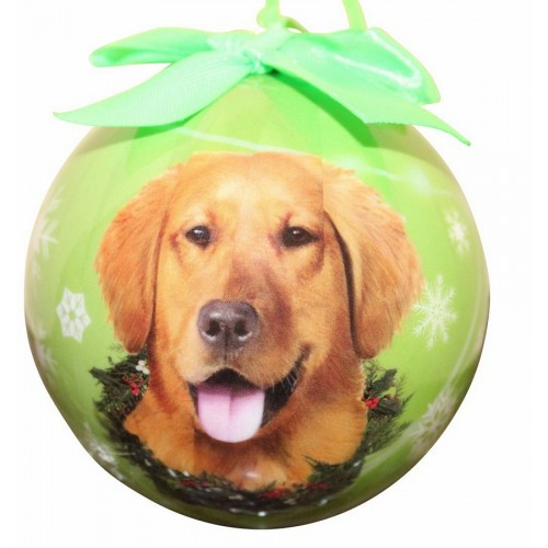 E&S Imports Shatter Proof Ball Christmas Ornament - Golden Retriever(CBO-15)