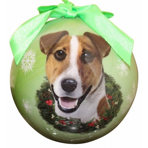 E&S Imports Shatter Proof Ball Christmas Ornament - Jack Russell(CBO-17)