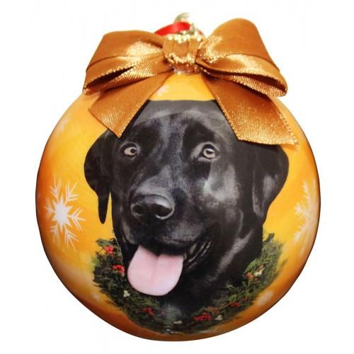 E&S Imports Shatter Proof Ball Christmas Ornament - Labrador Retriever (black)(CBO-21)