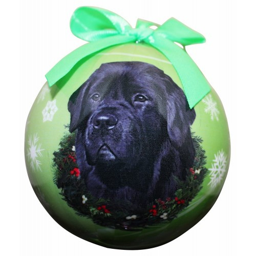 E&S Imports Shatter Proof Ball Christmas Ornament - Newfoundland(CBO-25)