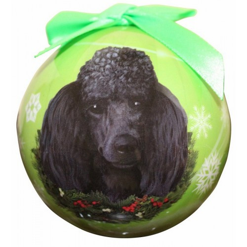 E&S Imports Shatter Proof Ball Christmas Ornament - Poodle (black )(CBO-29)