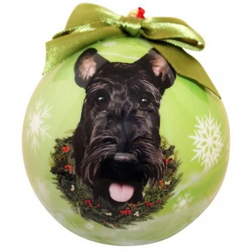 E&S Imports Shatter Proof Ball Christmas Ornament - Scottich Terrier (Scottie)(CBO-35)