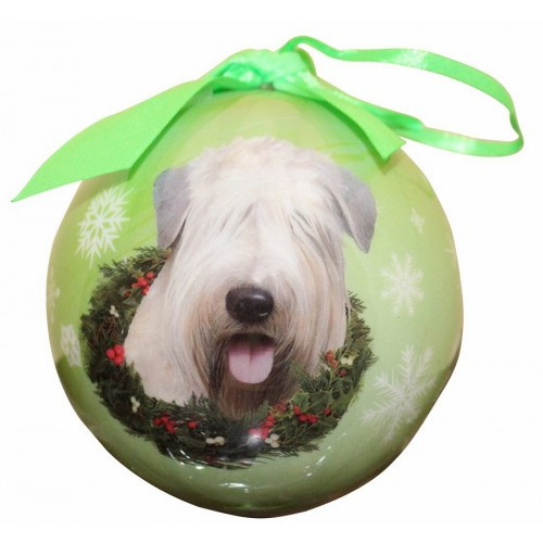 E&S Imports Shatter Proof Ball Christmas Ornament - Soft Coated Wheaten Terrier(CBO-41)