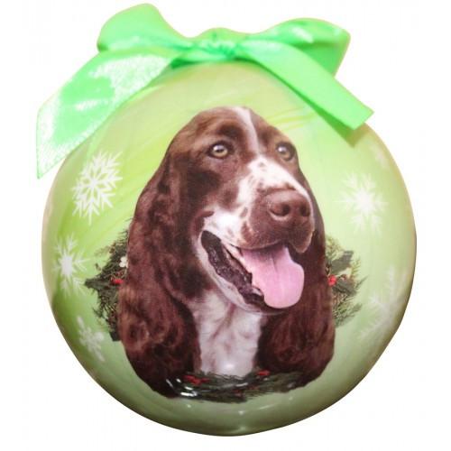 E&S Imports Shatter Proof Ball Christmas Ornament - Springer Spaniel(CBO-42)
