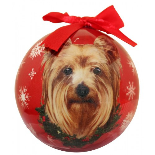 E&S Imports Shatter Proof Ball Christmas Ornament - Yorkshire Terrier (Yorkie)(CBO-46)