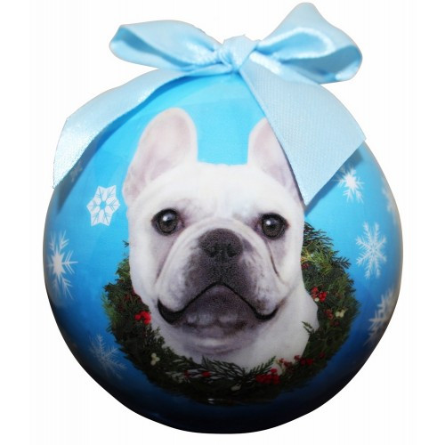 E&S Imports Shatter Proof Ball Christmas Ornament - French Bulldog(CBO-64)