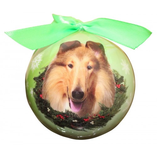 E&S Imports Shatter Proof Ball Christmas Ornament - Collie(CBO-67)