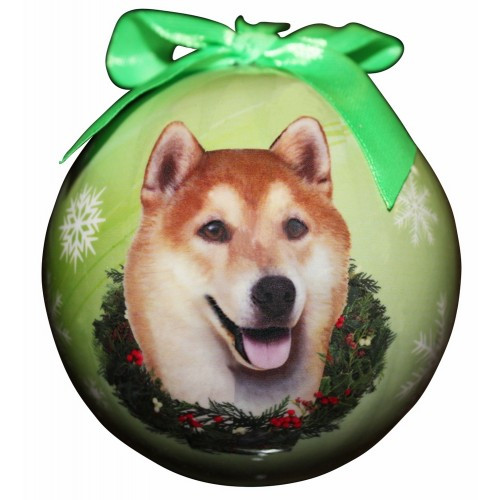 E&S Imports Shatter Proof Ball Christmas Ornament - Shiba Inu(CBO-68)