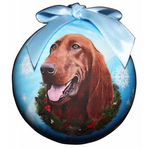 E&S Imports Shatter Proof Ball Christmas Ornament - Irish Setter(CBO-84)