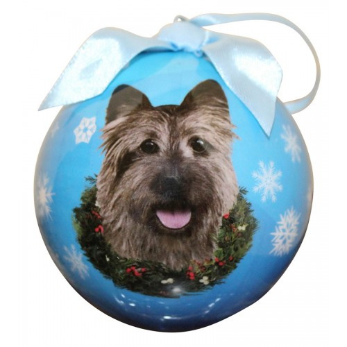 E&S Imports Shatter Proof Ball Christmas Ornament - Cairn Terrier(CBO-9)