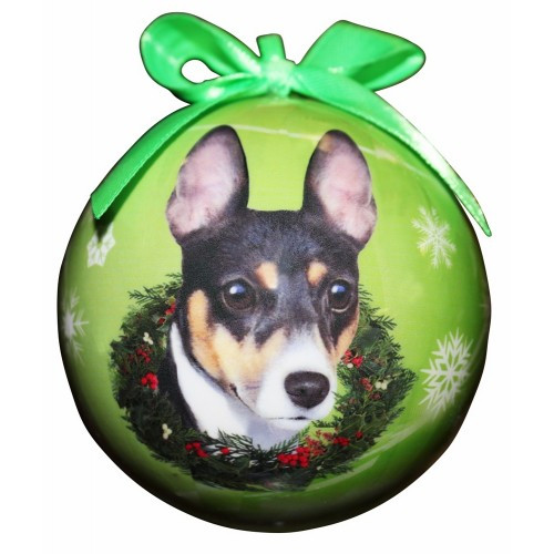 E&S Imports Shatter Proof Ball Christmas Ornament - Rat Terrier(CBO-92)