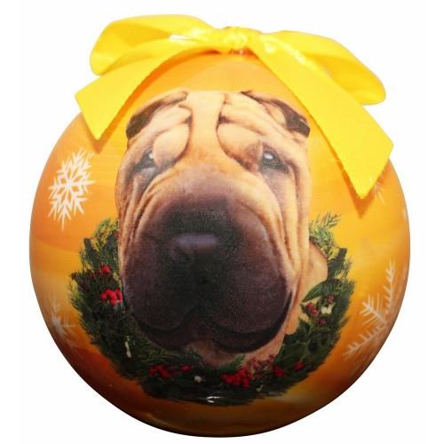 E&S Imports Shatter Proof Ball Christmas Ornament - Sharpei(CBO-96)
