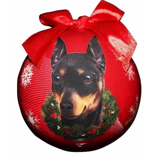 E&S Imports Shatter Proof Ball Christmas Ornament - Miniature Pinscher(CBO-98)