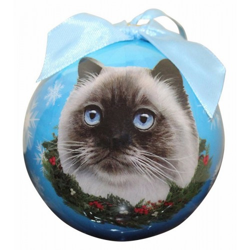 E&S Imports Shatter Proof Ball Christmas Ornament - Himalayan cat(CBOC-1)