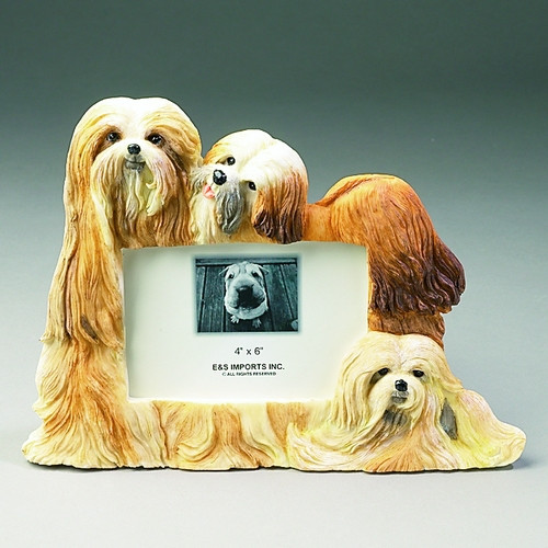E&S Imports 4x6 Picture Frame - Lhasa Apso (35257-24)