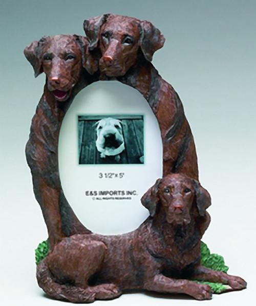 E&S Imports 3x5 Picture Frame - Chocolate Labrador Retriever (35257-56C)