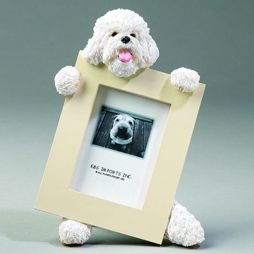 E&S Imports 2.5in x 3.5in Picture Frame - Bichon Frise (35315-4)