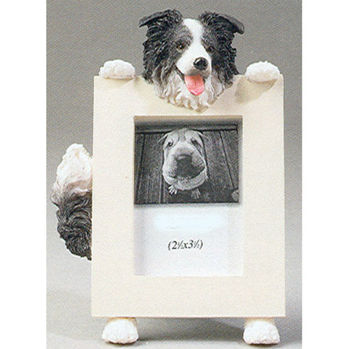 E&S Imports 2.5in x 3.5in Picture Frame - Border Collie (35315-5)