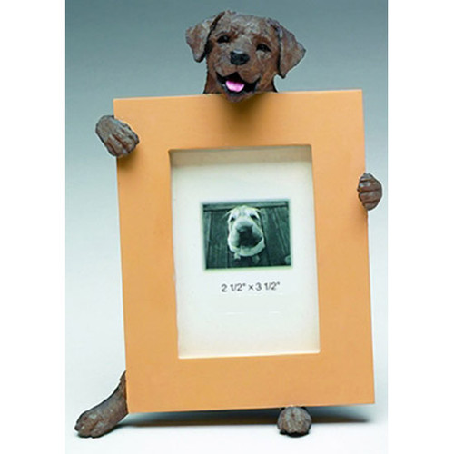 E&S Imports 2.5in x 3.5in Picture Frame - Labrabor Retriever (Chocolate) (35315-22a)