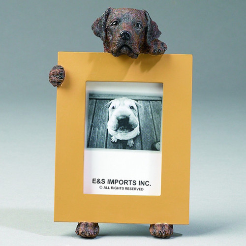 E&S Imports 2.5in x 3.5in Picture Frame - Labrador Retriever (Chocolate) (35315-22)