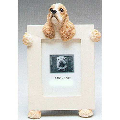 E&S Imports 2.5in x 3.5in Picture Frame - Cocker Spaniel (35315-78a)