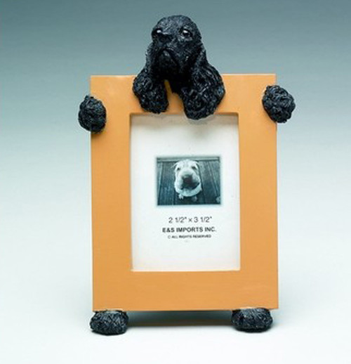E&S Imports 2.5in x 3.5in Picture Frame - Cocker Spaniel (Black) (35315-78c)