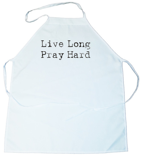 Apron -  Live Long Pray Hard (100-0073-000)