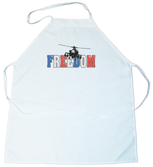 Apron -  Freedom in Red,White & Blue with helecopter (100-0041-00)
