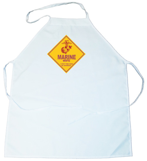 Apron -  Marine Wife.  I put the Ooh in Hoorah (100-0010-002)