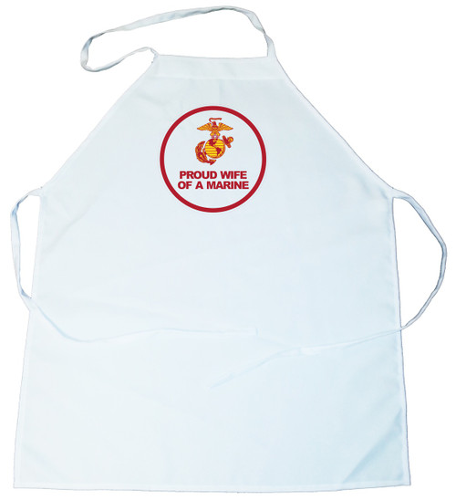 Apron -  Proud Wife of a Marine (100-0007-004)