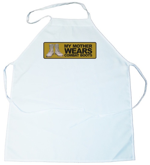 Apron -  My mother wears combat boots (100-0006-000)