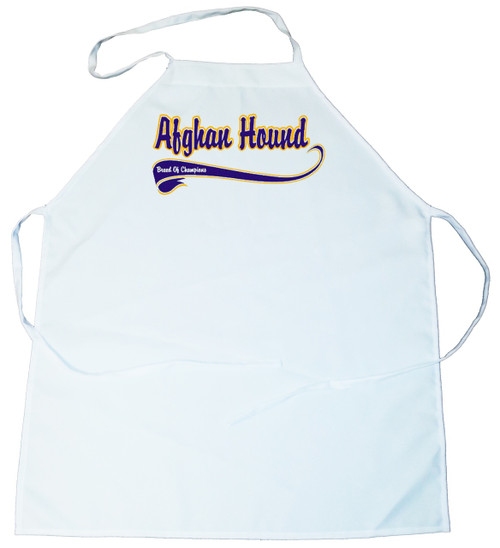 Breed of Champion (Blue) Apron - Afghan Hound (100-0002-102)