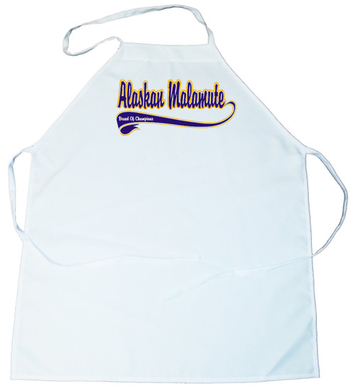 Breed of Champion (Blue) Apron - Alaskan Malamute (100-0002-108)