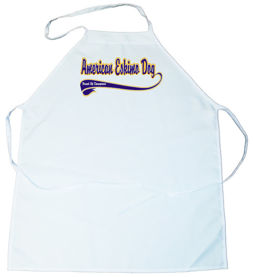 Breed of Champion (Blue) Apron - American Eskimo Dog (100-0002-110)